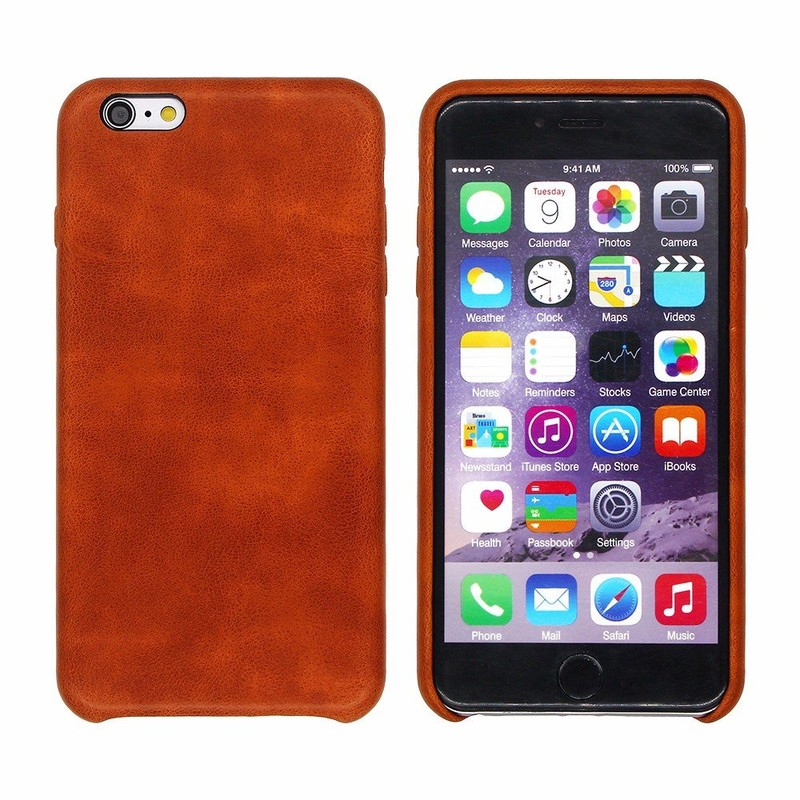 Real Leather Feeling iPhone 6 Plus PU Leather Case