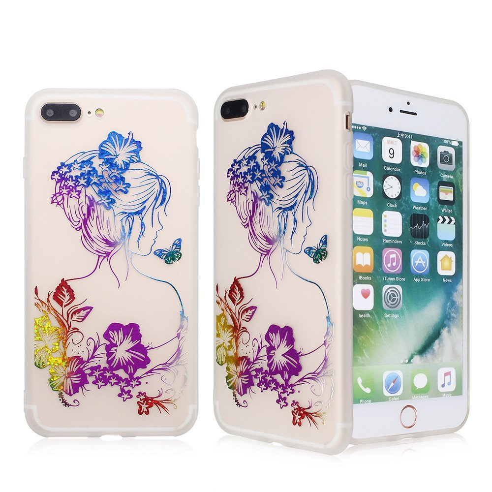 TPU Case for iPhone 7 Plus with Bronzing Artwork