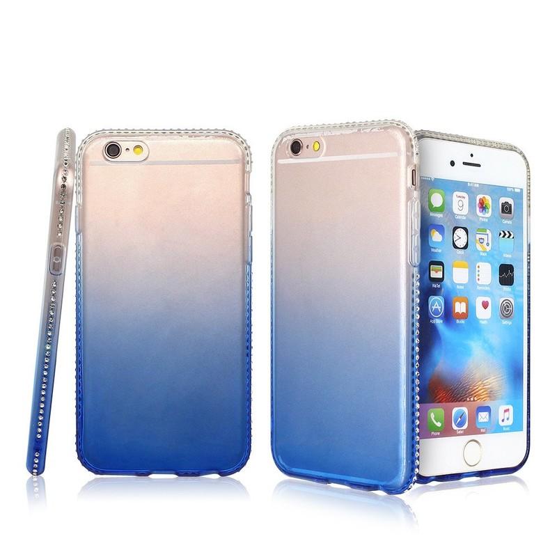 Caso del iPhone 6 del color de la pendiente con el tope del diamante