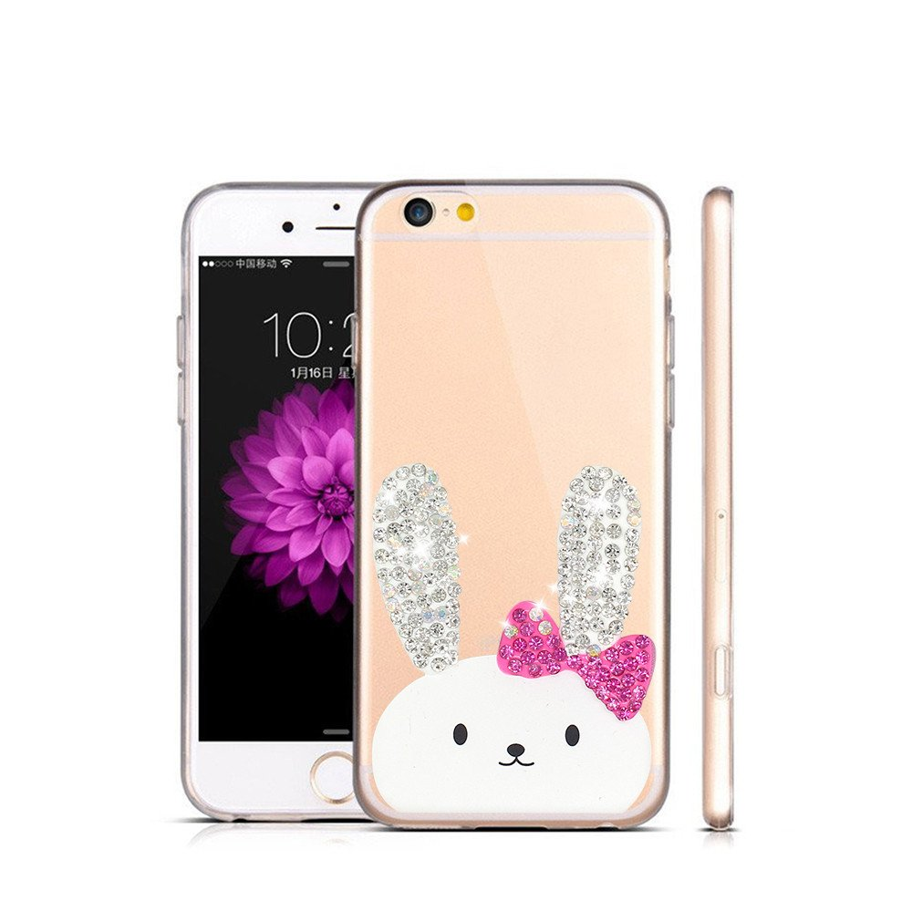 Diamond Decor Pretty Clear Phone Case for iPhone 6