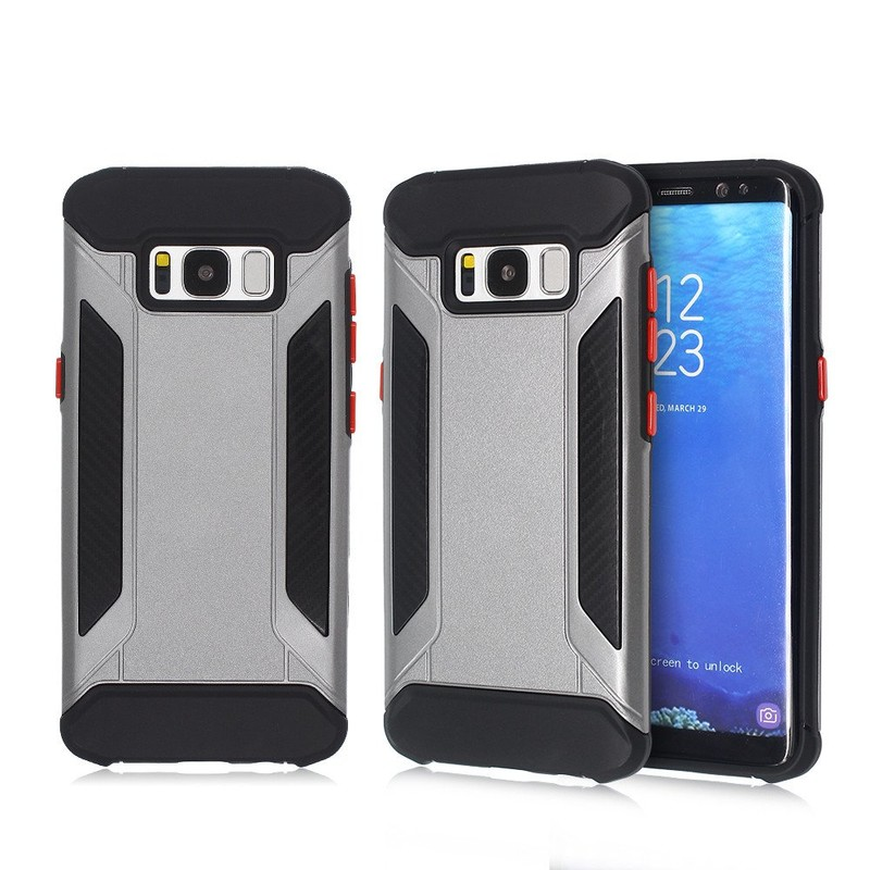 S8 Protective Case Consisted of 2 Parts with Unique Red Buttons