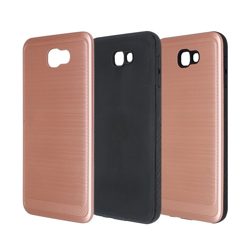 Luxury Wire Drawing Combo Phone Case for Samsung J7 Prime