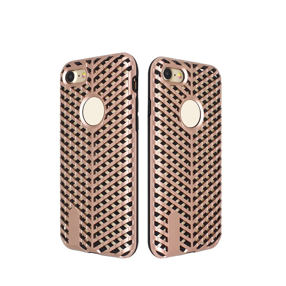 Unique Latticed Heat Radiating Combo Case for iPhone 7
