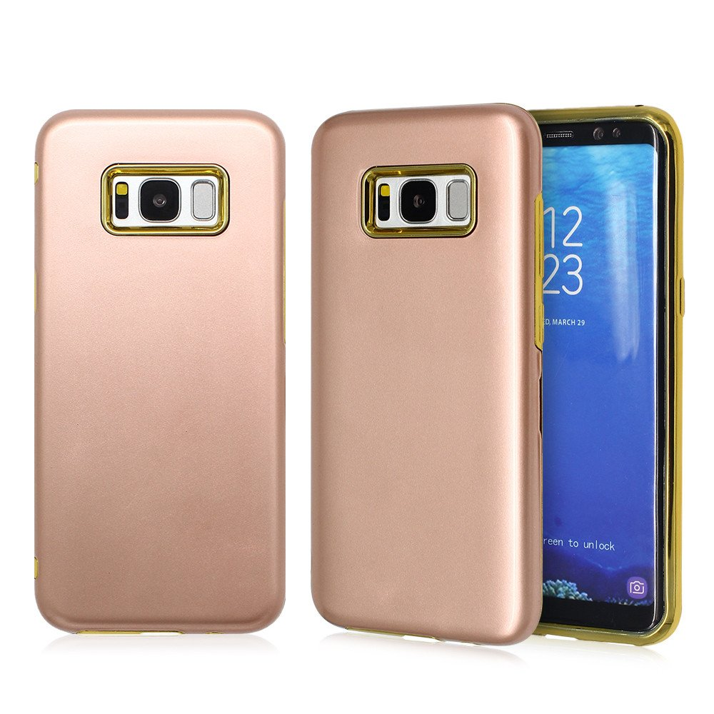 S8 Phone Case with Stand with An Electroplated TPU Case
