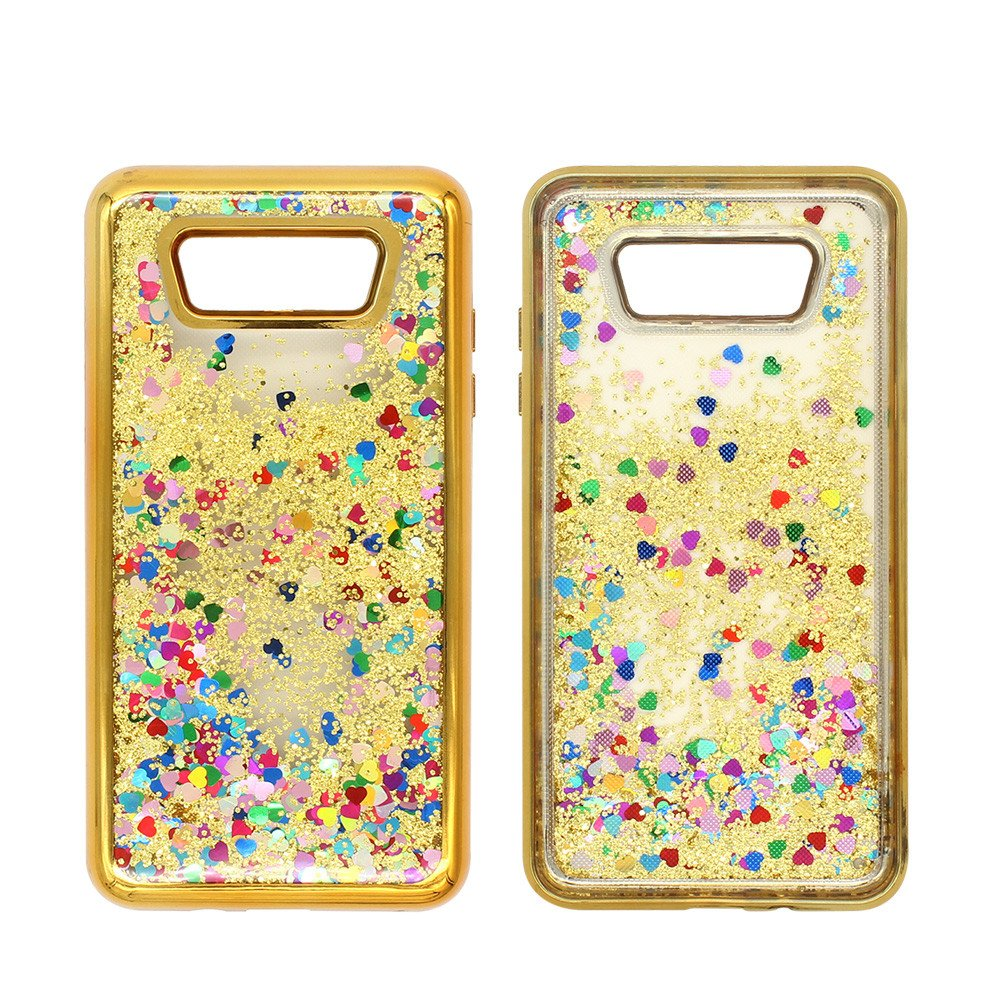 Samsung J7 2016 Glittering Quicksand Case with Diamond Bumper