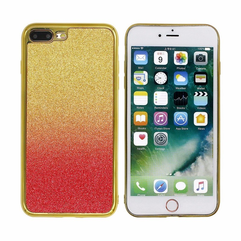 Gradient Color Paste Leather Case for iPhone 7 Plus