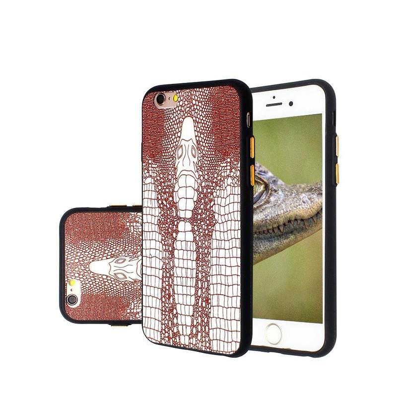 Patrón de cocodrilo en relieve patrón delgado caso del iPhone 6 TPU