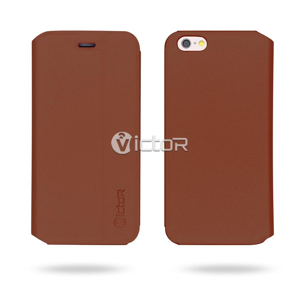Victor PU Leather Flip Case for iPhone 6s