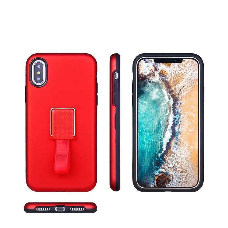 IPhone X Case with Ring and Invisible Kickstand