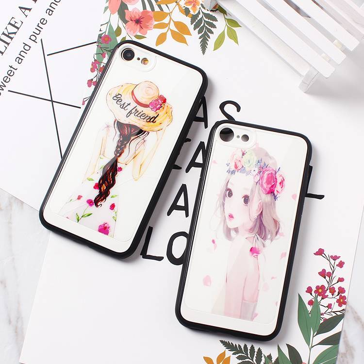 Glass Surface Color Printing Case Wholesale for IPhone 7