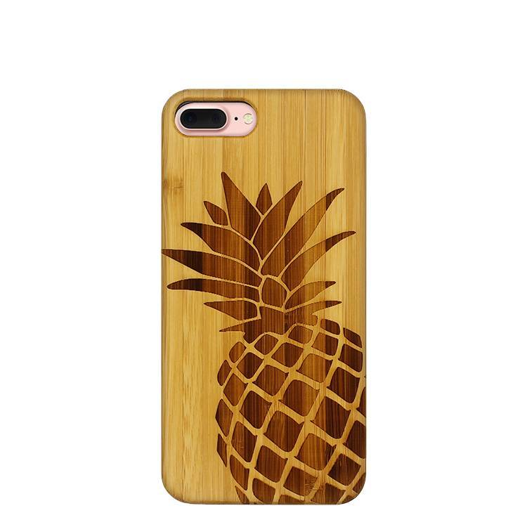 Wooden Case for IPhone X with Wood Laser Engraved pattern