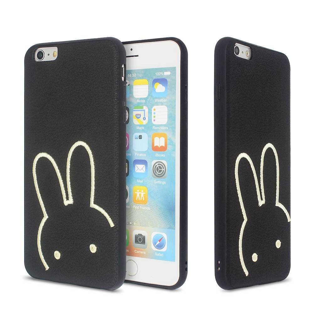 TPU iPhone 6 Plus Case with Cartoon Character Embroidery