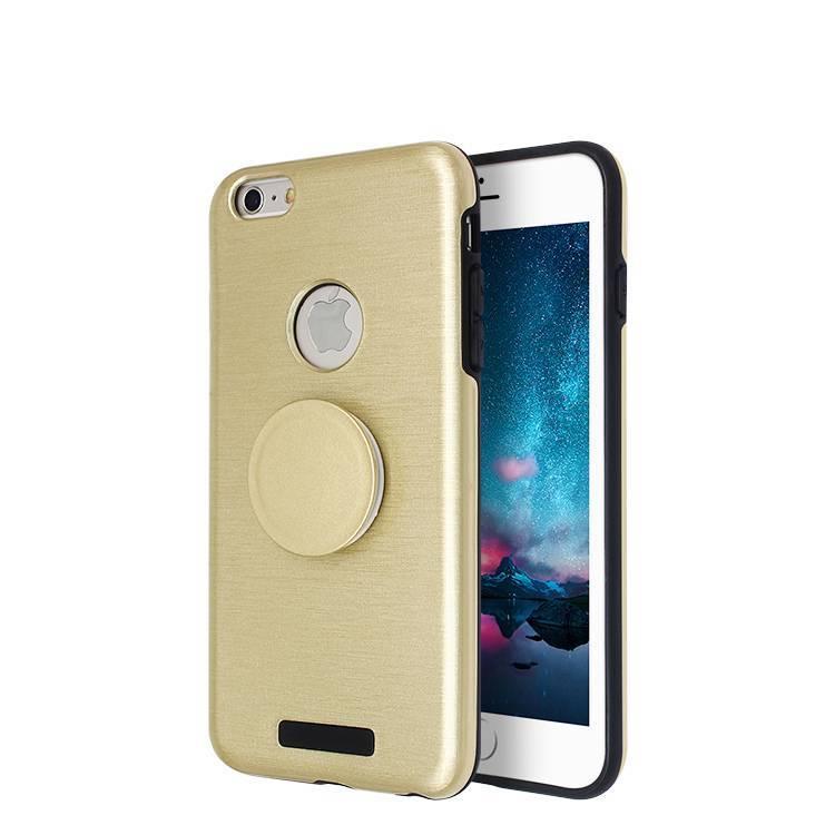 Brushed finishing Phone Case for iPhone 6 plus with popsocket