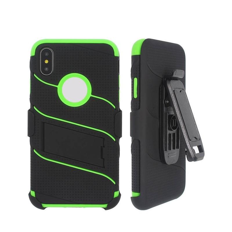 Colorido TPU altamente protector iPhone X caso con cubierta