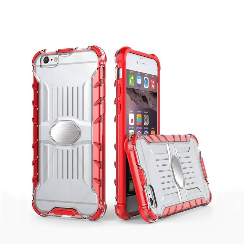 IPhone 6 Clear Phone Case con elegante parachoques TPU