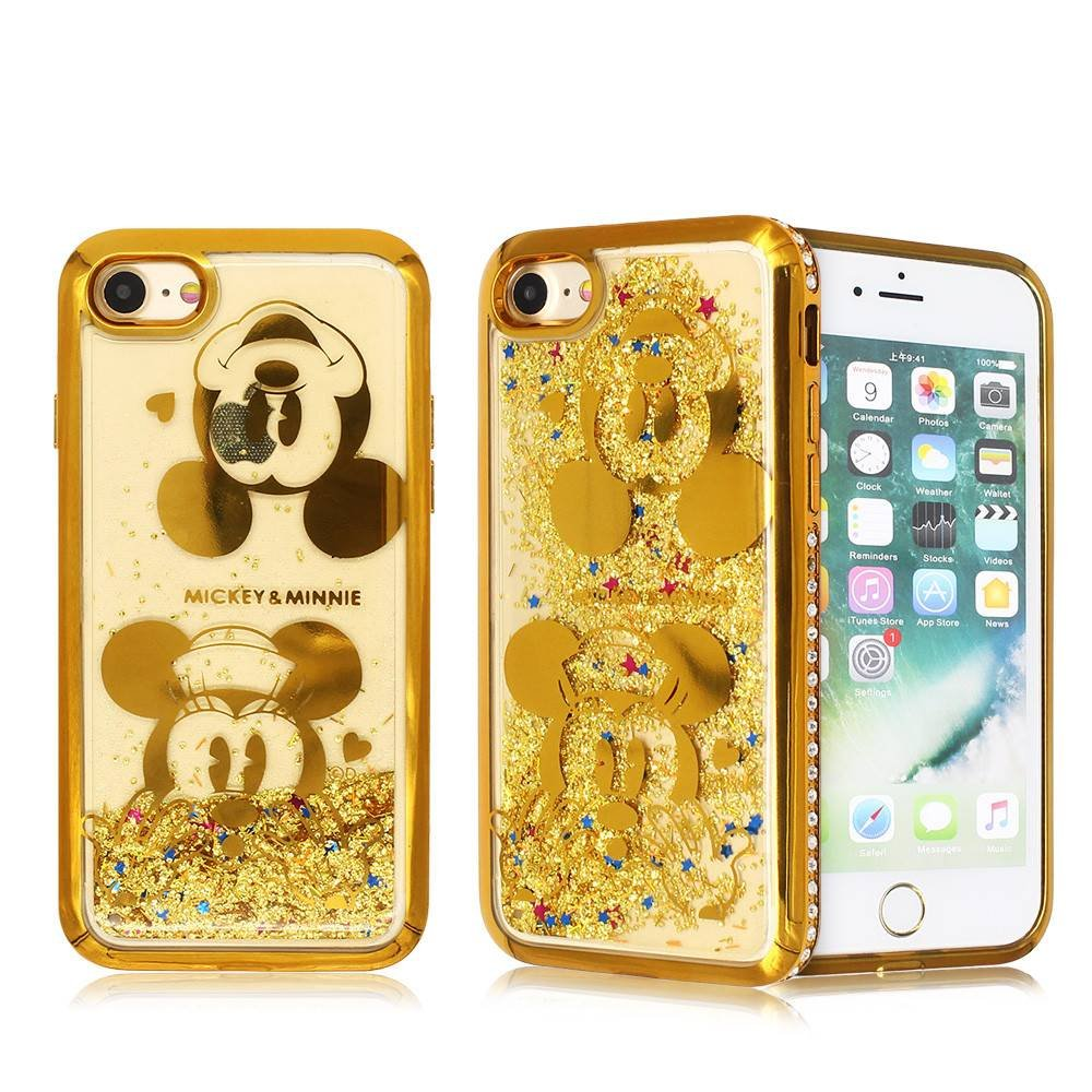 Diamond Bumper iPhone 7 TPU Phone Case with Laser Carved Artworks