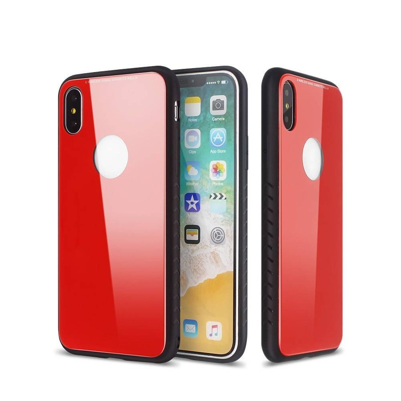 Pretty iPhone X Cases with Glass Backs and TPU Bumpers