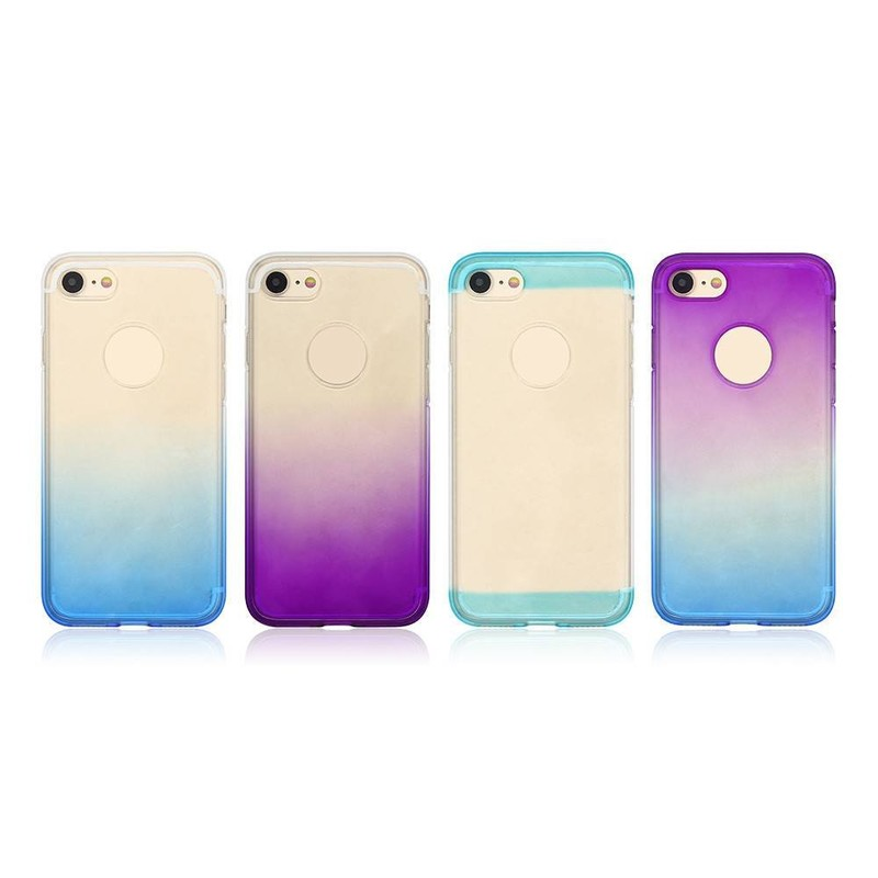 Funda protectora para iPhone 7 de TPU en color degradado