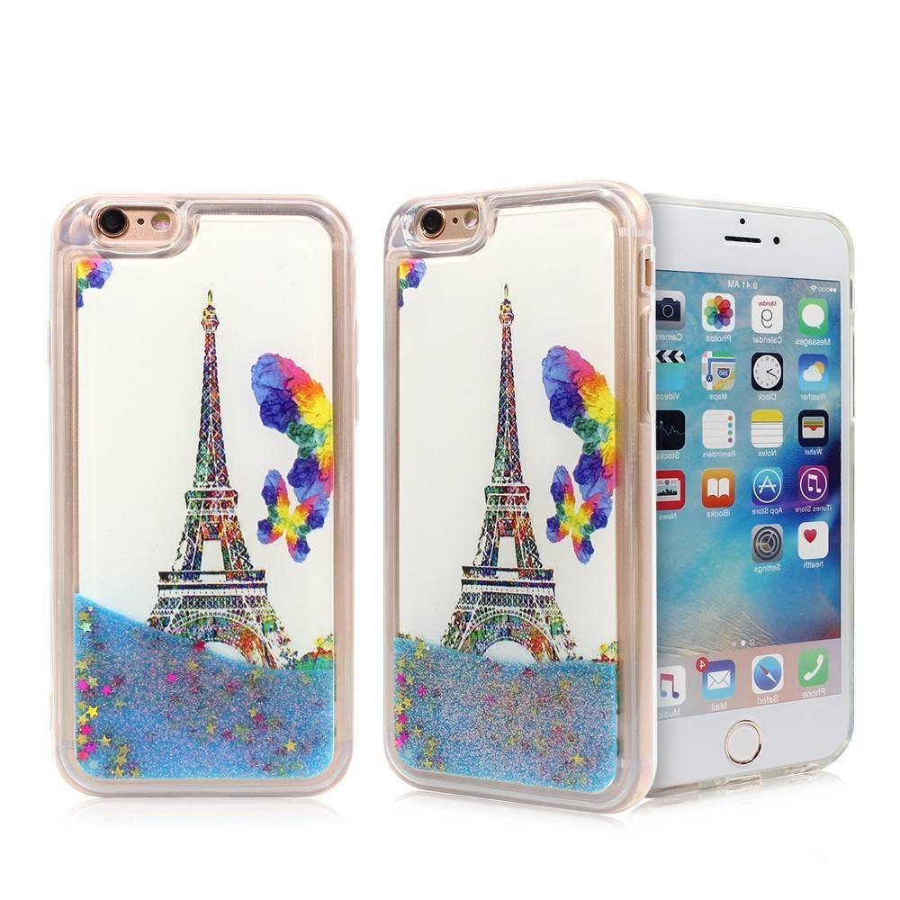 Clear TPU Phone Case for iPhone 6 with Pretty Quicksand Inside
