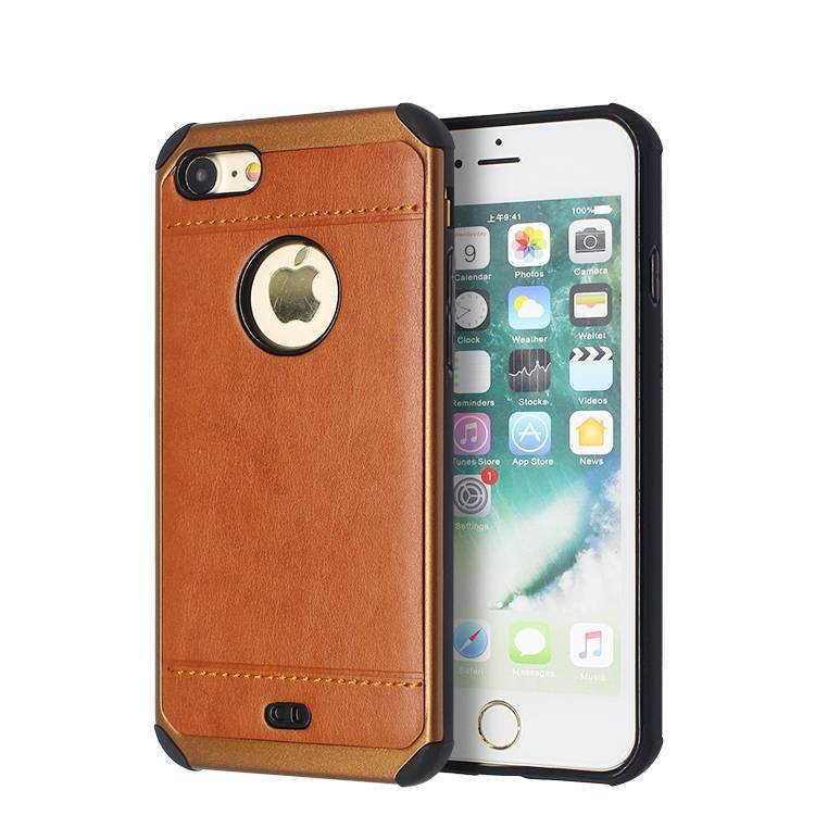 2 in 1 Veneer Leather Case for IPhone 7 in Bulk
