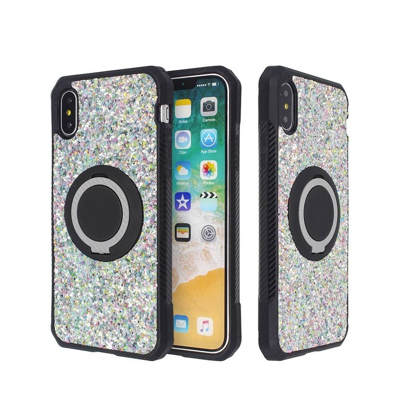 IPhone X Veneer TPU Leather Case with Ring Wholesale