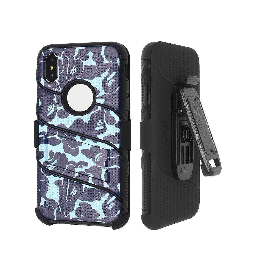 Protective Case for iPhone X with Multi-functional Front Cover