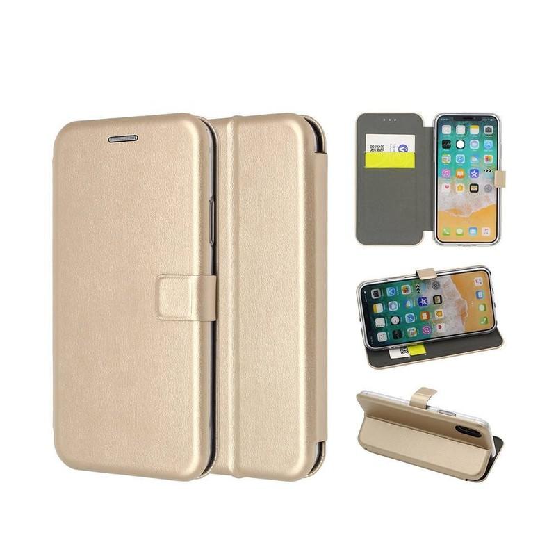 Plegable lujo iPhone X Wallet Case con ranuras para tarjetas