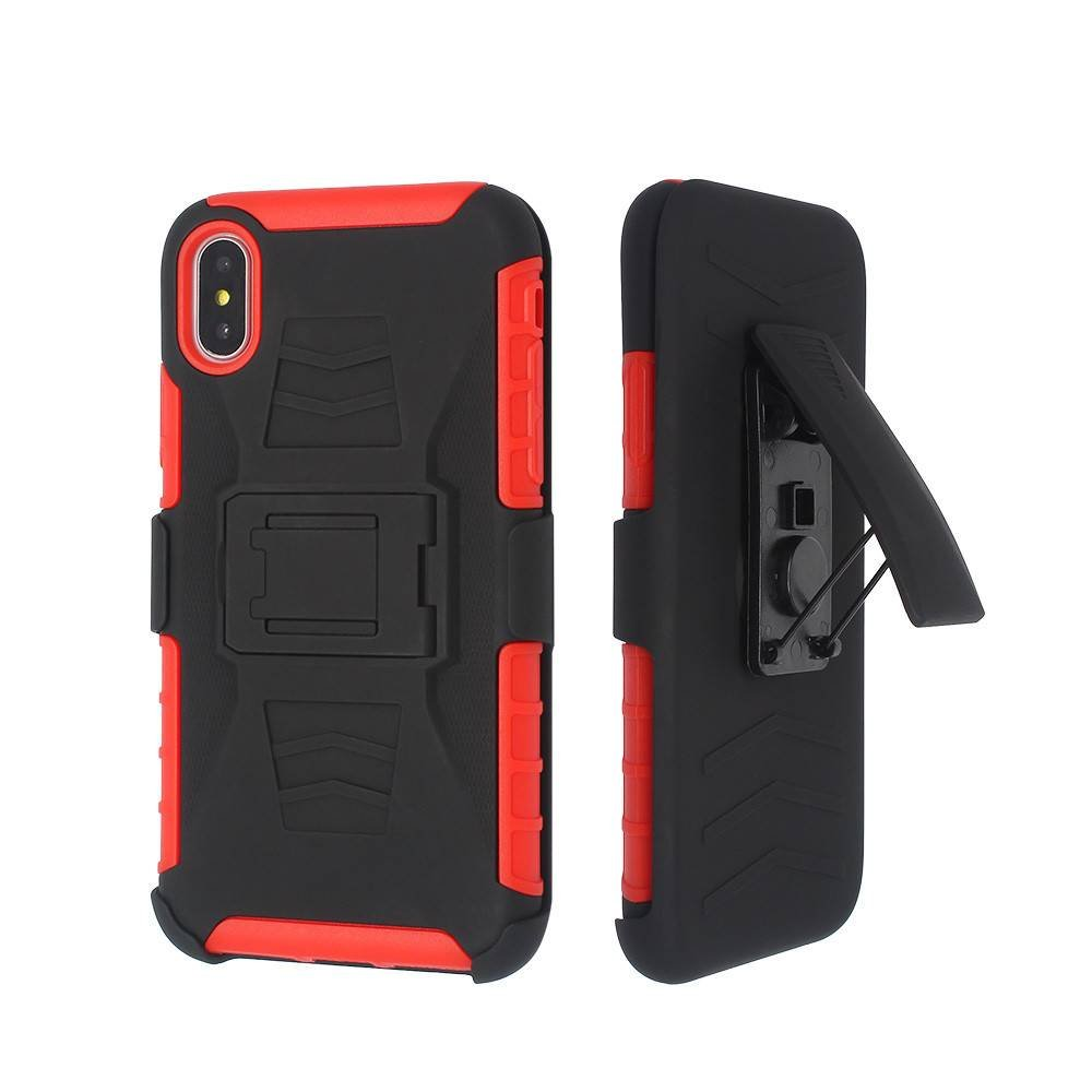 Protective iPhone X Armor Case with Multi-functional Components