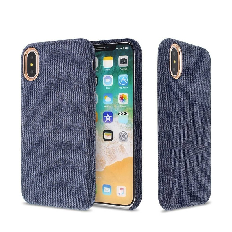 Slim iPhone X Case with Pasted Cloth Back for Wholesale