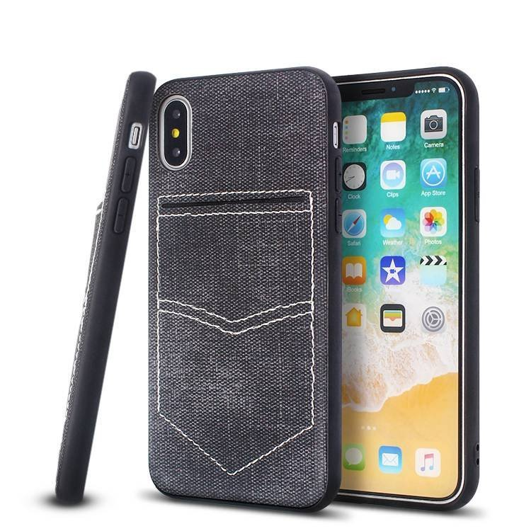Veneer Leather Case for IPhone 7 with Magnetic and Card Holder