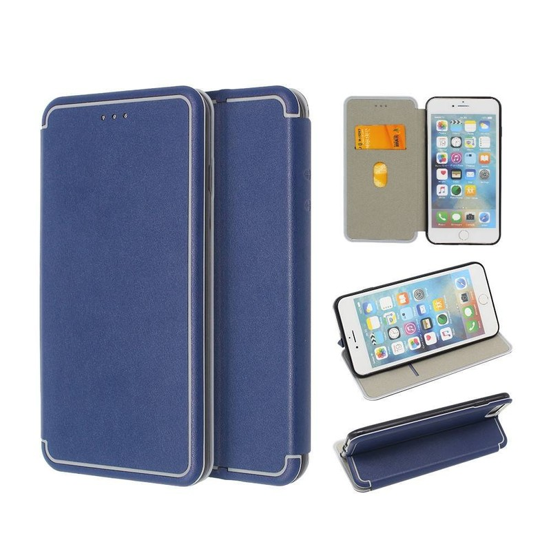 Leather iPhone 6 Plus Wallet Case in Foldable Design
