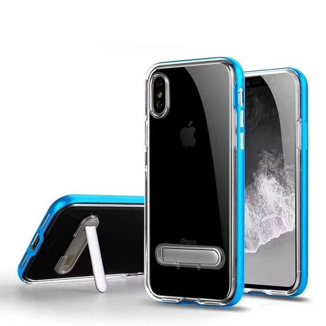 Crystal Clear Cases for IPhoneXS MAS with Electroplated Frame