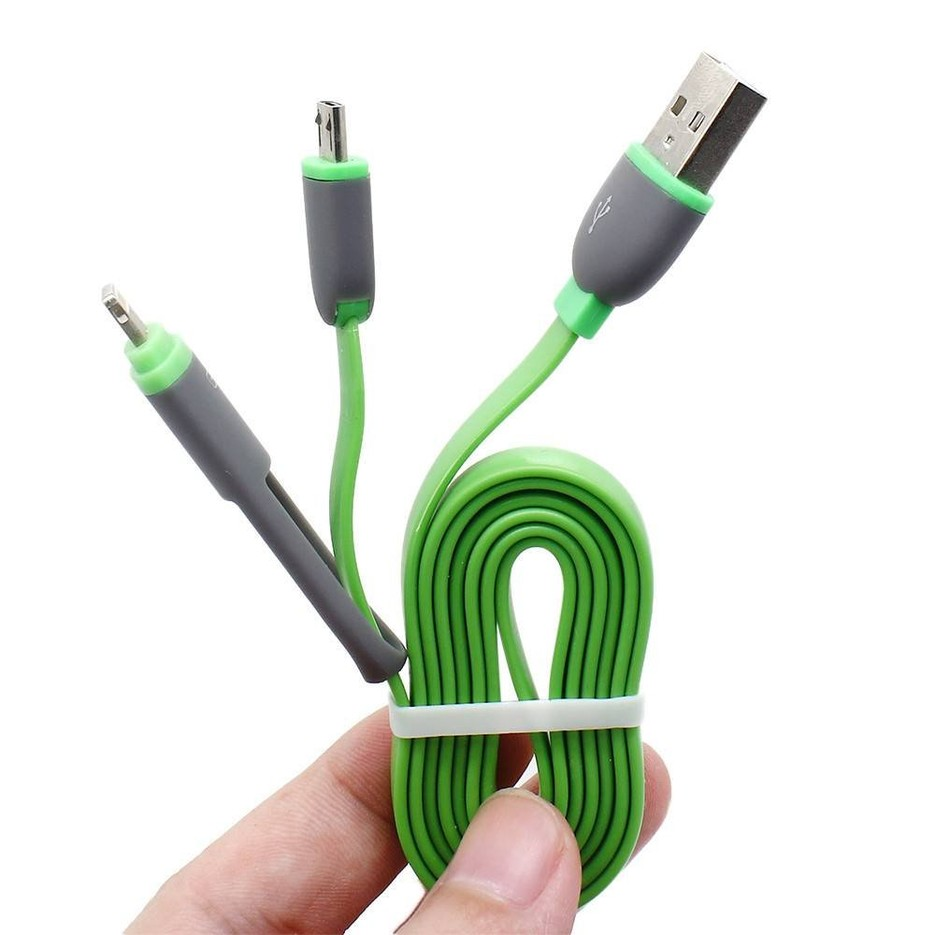2 in1 Universal Long USB Power Charger Cable