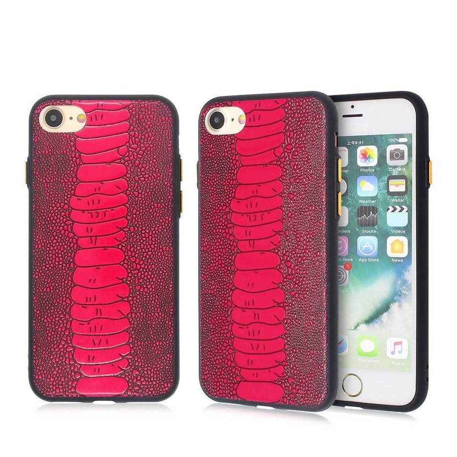 iPhone 7 TPU Case with Embossed PU Part for Wholesale