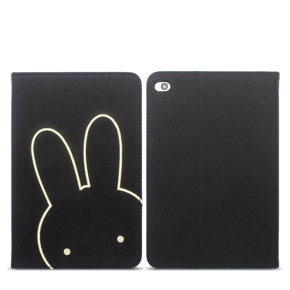 PU Leather iPad Case with Embeoidery Cartoon Decoration