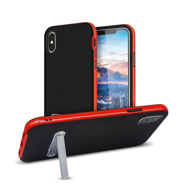 2 in 1 IPhone X Case with kickstand Wholesale