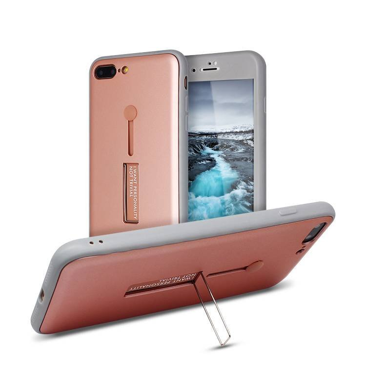 PC + TPU Hybrid Ring Grip Holder Stand Protection Case for IPhone 6/7plus