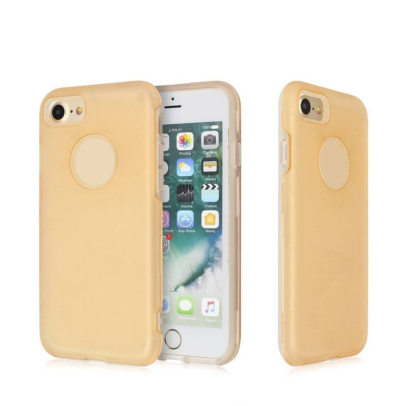Wholesale iPhone 7 Cases with A Half Clear TPU Part