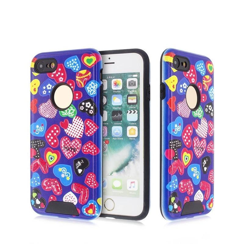 Buen iPhone 7 casos con Pretty Embossing Decoración