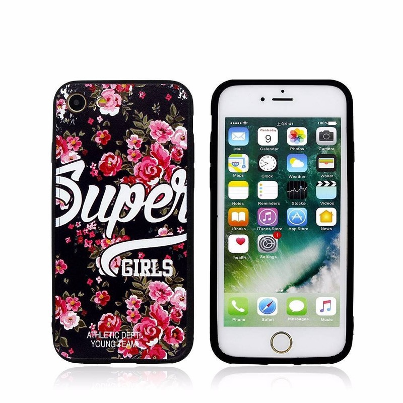 Beautiful Embossed iPhone 7 TPU Case with Ring