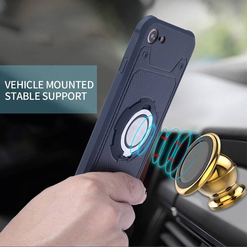 Protective iPhone 7 Car Phone Case with Ring