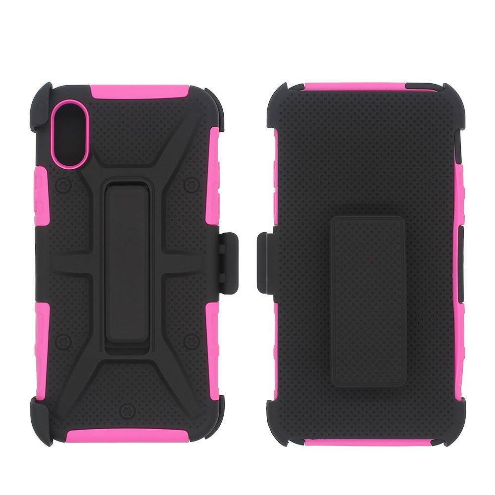 360 Protective Case for iPhone X with Kickstand and Belt Clip