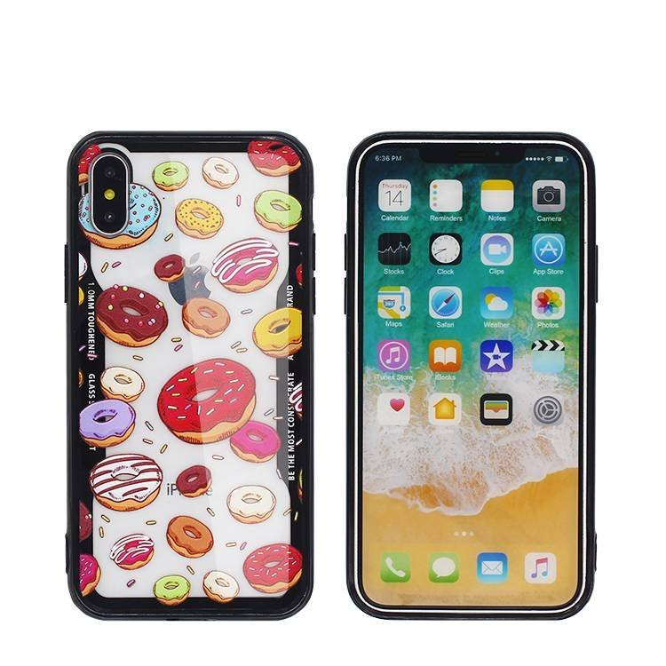 Lmitation glass Color Printed IPhone X Case with Embossed design