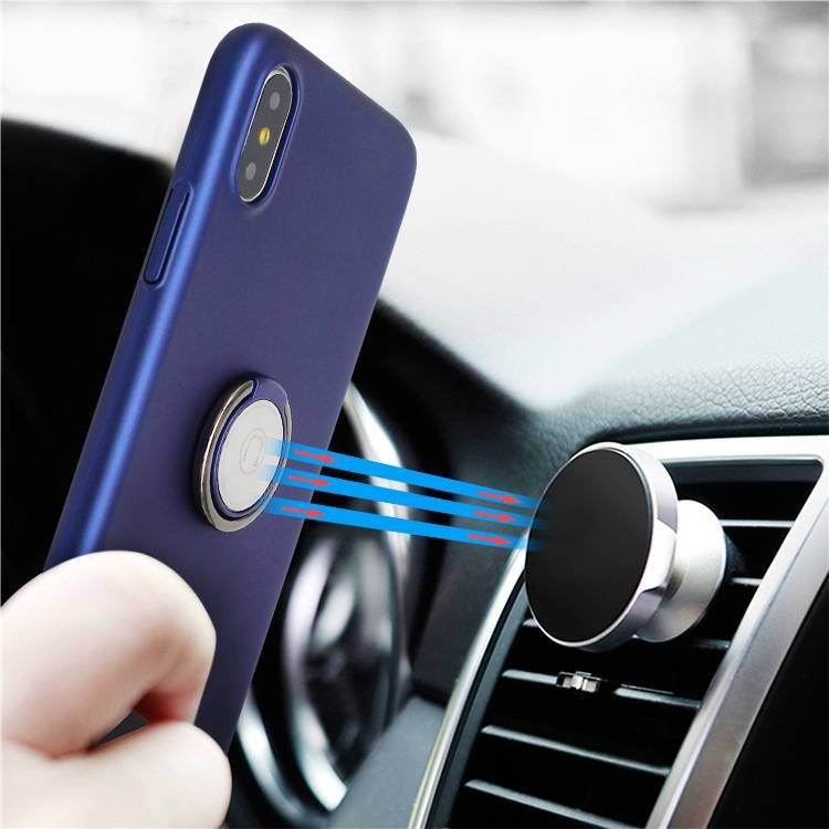 iPhone X Ring Phone Case with Magnetic Car Mount Holder