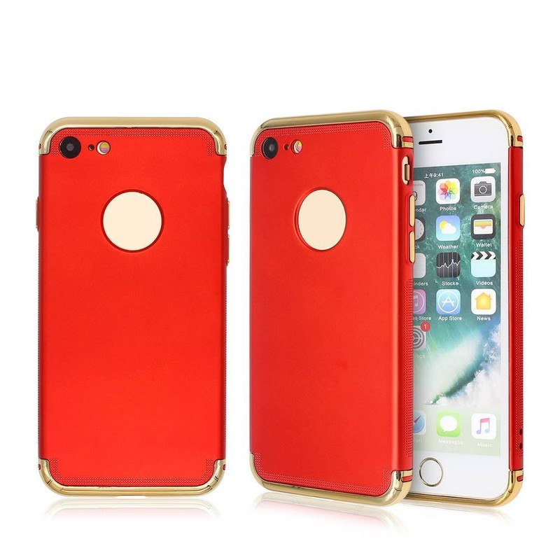 Phone Protector Case for iPhone 7 with Electroplated PC Bumper