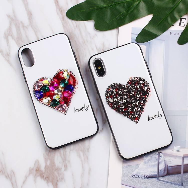 Heart Shape Diamond Case for IPhone X Wholesale