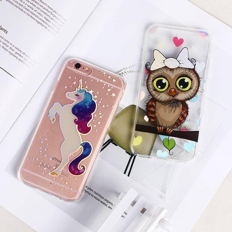 Caja clara del teléfono de IMD TPU para el iPhone 6 al por mayor
