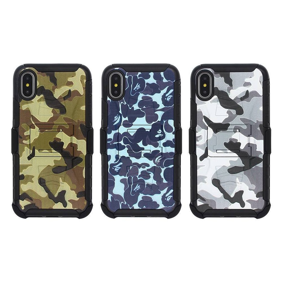 Camouflage Protective iPhone X Armor Phone Case for Wholesale