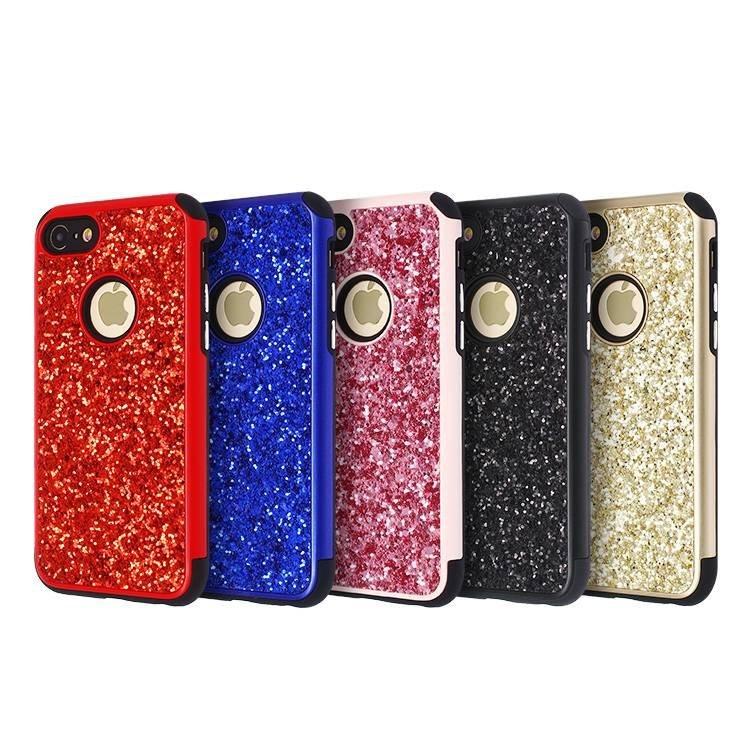 2 en 1 Glitter Case para iPhone 7 al por mayor