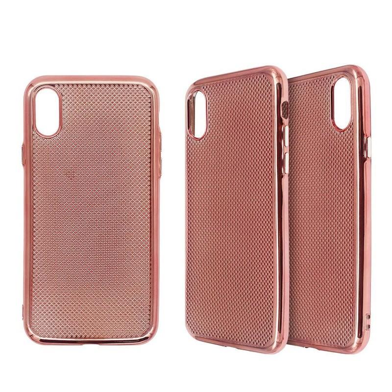 Electroplating iPhone X TPU Case in Honey Comb Design